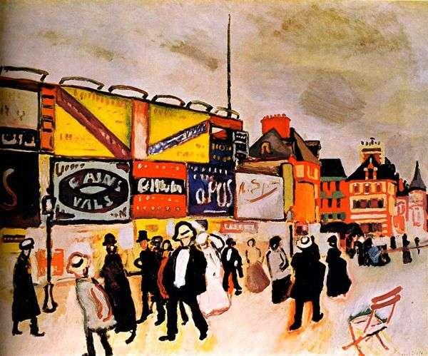 Trouville的广告牌   Raoul Dufy