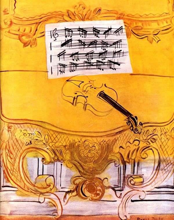 黄色Harmonium与小提琴   Raoul Dufy
