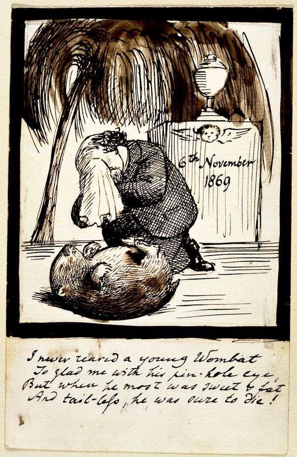 一位艺术家在袋熊墓前哭泣的自画像   但丁罗塞蒂