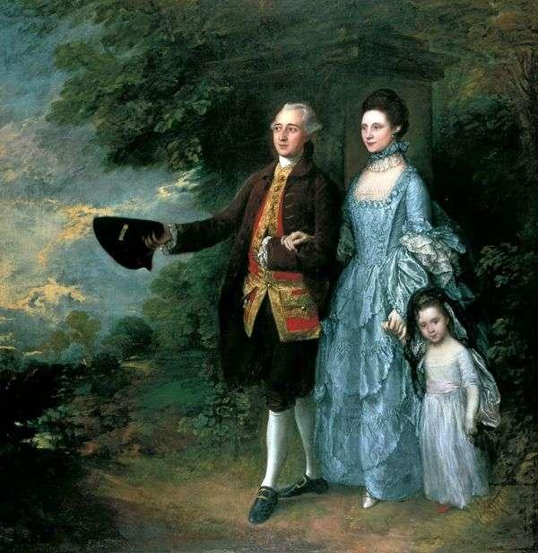 乔治和路易丝   毕姆和他的女儿萨拉   托马斯 庚斯博罗