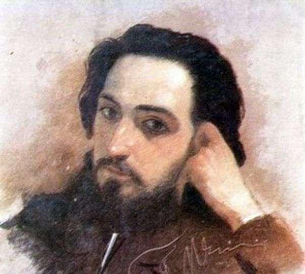 V. M. Garshin的肖像   Grigory Myasoedov