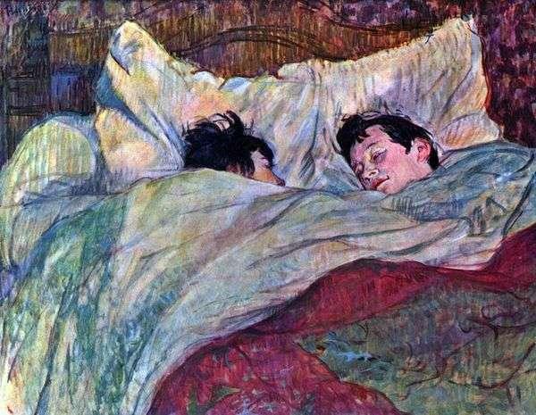 两个女孩在床上   Henri de Toulouse Lautrec
