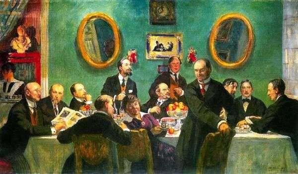 艺术世界的艺术家的集体画像   鲍里斯Kustodiev