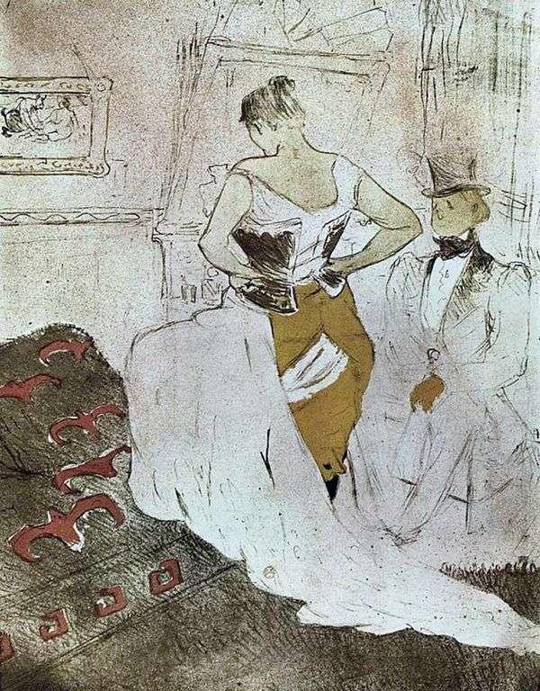 紧身胸衣女孩   Henri de Toulouse Lautrec