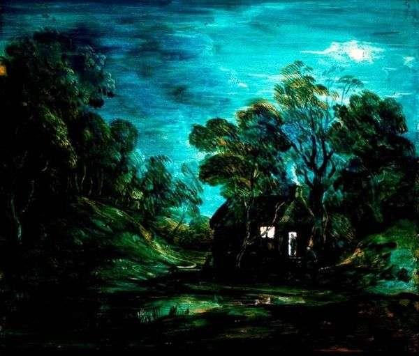 与房子的月球风景   托马斯Gainsborough