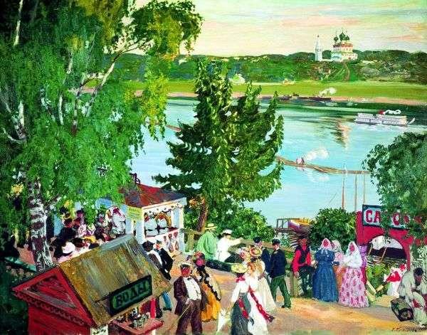 走在伏尔加河   鲍里斯库斯托季耶夫