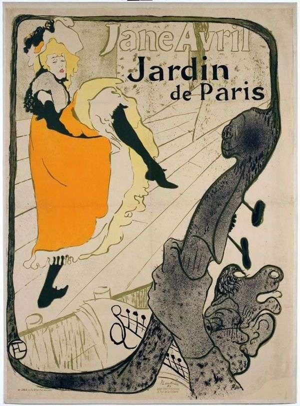 Jane Avril(Jane Avril in Jardin de Paris)   Henri de Toulouse Lautrec