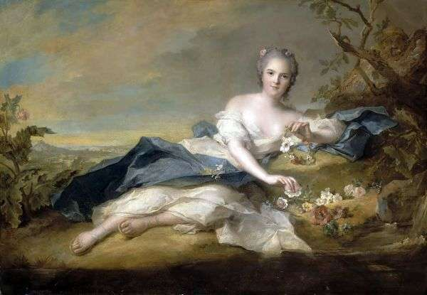 Henrietta French in Flora服装   Jean Marc Nattier