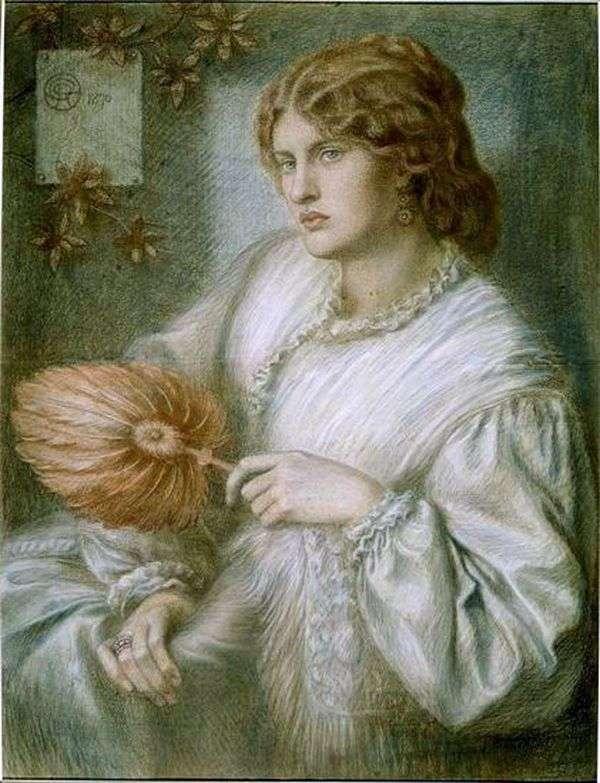 风扇的女人   但丁罗塞蒂