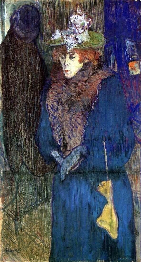 Jane Avril,红磨坊的一部分   Henri de Toulouse Lautrec