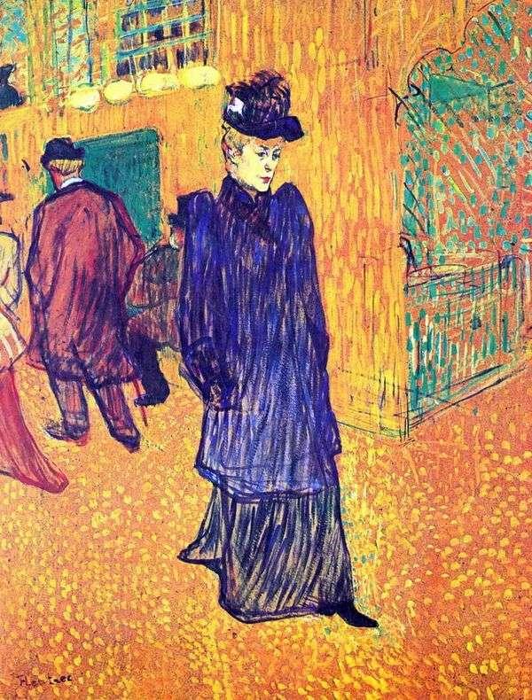 Jane Avril走出红磨坊   Henri de Toulouse Lautrec