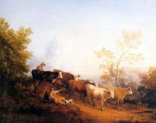 与返回的牧群景观   托马斯庚斯博罗