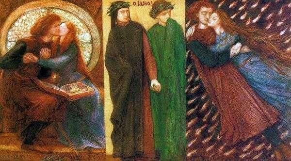 保罗和弗朗西斯卡   但丁罗塞蒂