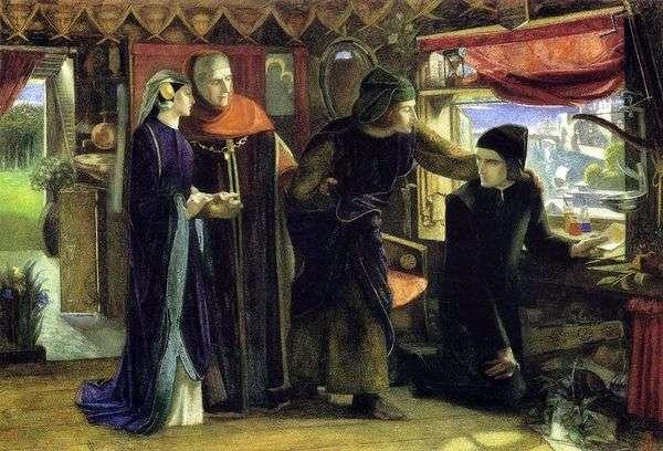 比阿特丽斯逝世一周年   但丁罗塞蒂