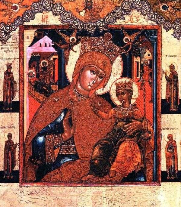 我们圣母圣诞节前和圣诞节后的圣母,与圣徒在田野里