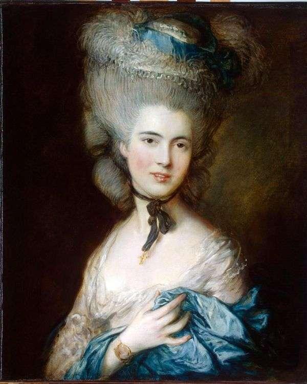 公爵夫人de Beaufort(蓝色夫人)的肖像   托马斯庚斯博罗
