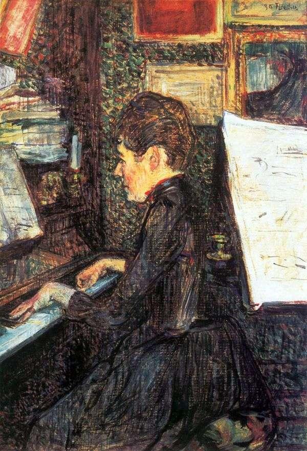 钢琴小姐迪奥   Henri de Toulouse Lautrec