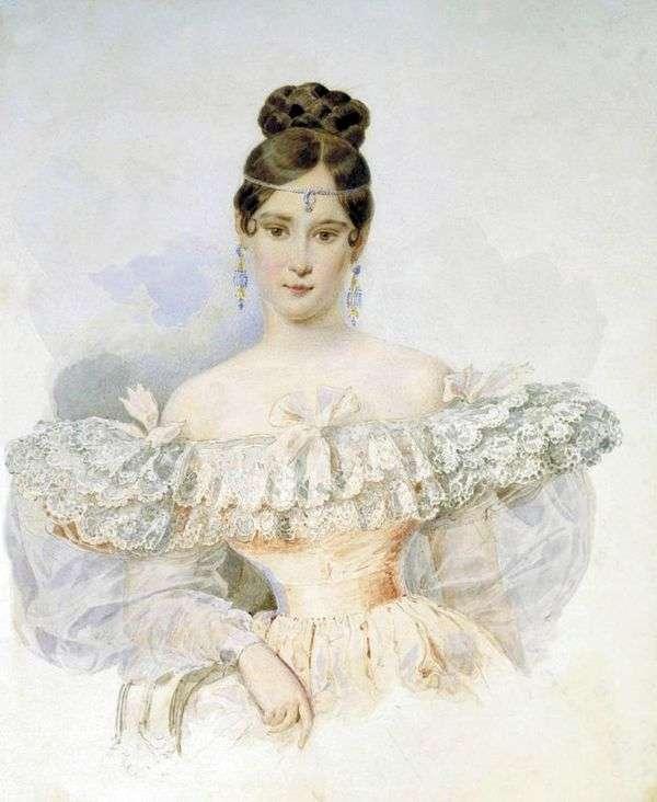 Natalya Pushkina,呃。Goncharova   Karl Bryullov