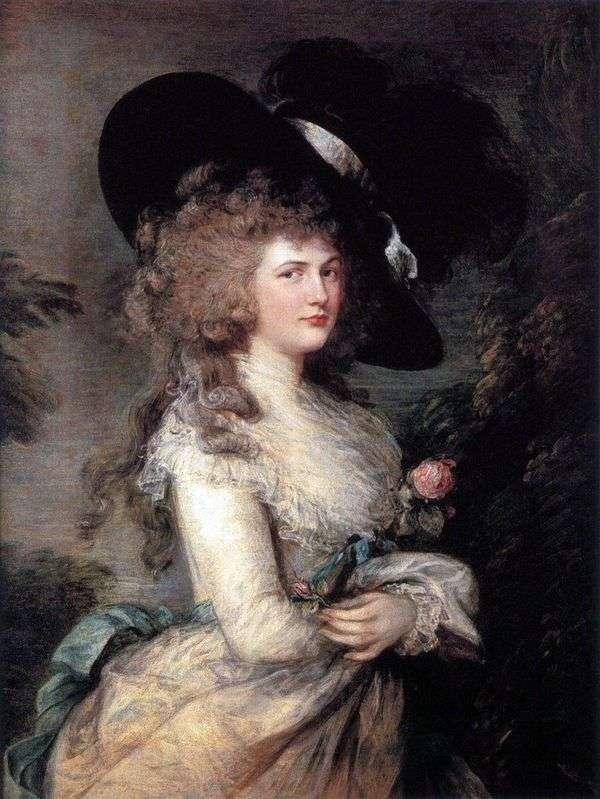 乔治亚娜的肖像,德文郡公爵夫人   托马斯盖恩斯伯勒