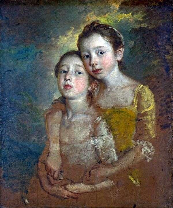艺术家的女儿与猫的肖像   托马斯庚斯博罗