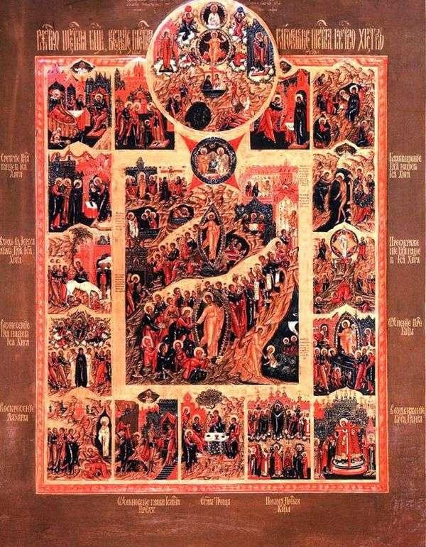 基督的复活,以及唯一被遗忘的儿子的场景,以及12个标志中的假期
