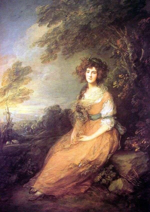 伊丽莎白谢里登夫人的肖像   托马斯盖恩斯伯勒