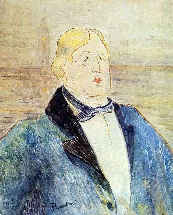 奥斯卡王尔德的肖像   亨利德图卢兹劳特累克