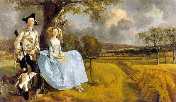 安德鲁斯先生和他的妻子   托马斯盖恩斯伯勒的肖像