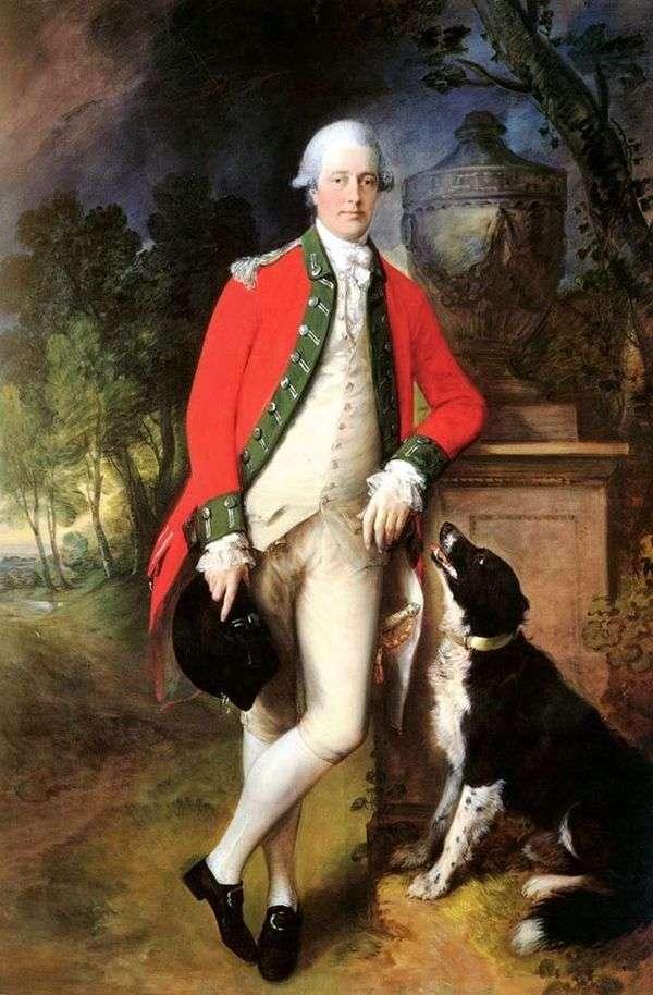 约翰布洛克上校的肖像   托马斯盖恩斯伯勒