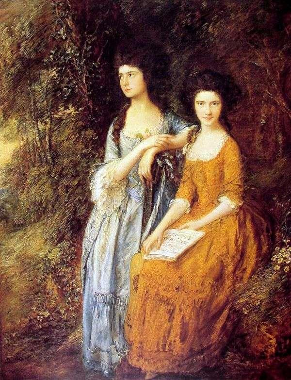 Elizabeth和Mary Linley的肖像   Thomas Gainsborough
