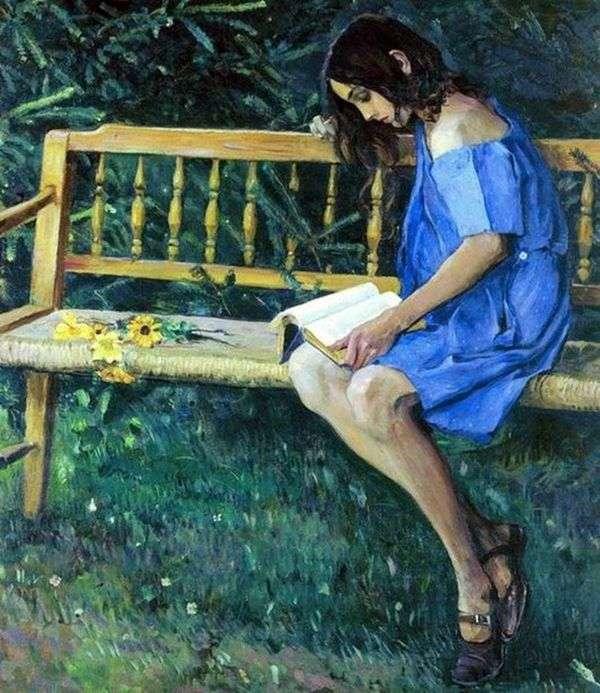 娜塔莎在花园长椅上   米哈伊尔 涅斯特罗夫