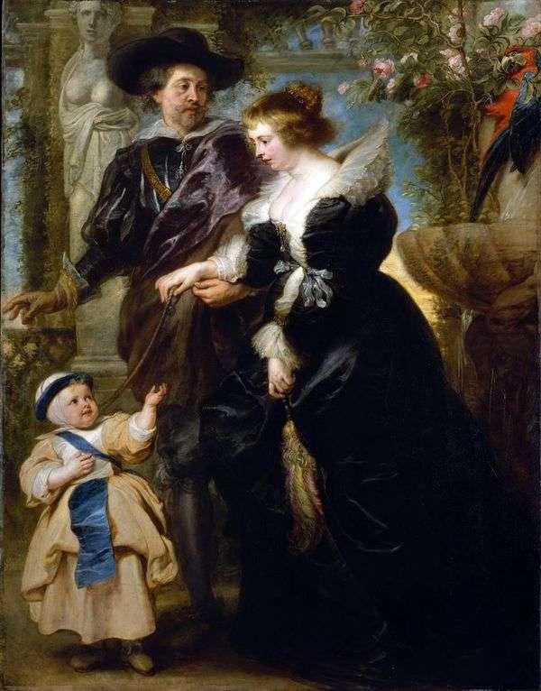 与Elena Fourman和儿子的自画像   彼得鲁本斯