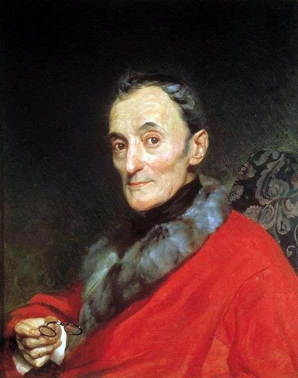 考古学家米开朗基罗午餐的肖像   卡尔布鲁洛夫