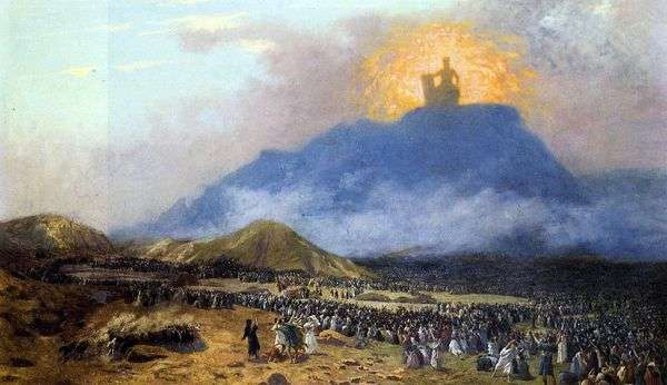 西奈山上的摩西   让   莱昂杰罗姆