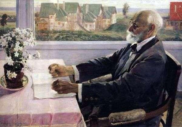 学术生理学家I. P. Pavlov   Mikhail Nesterov的肖像