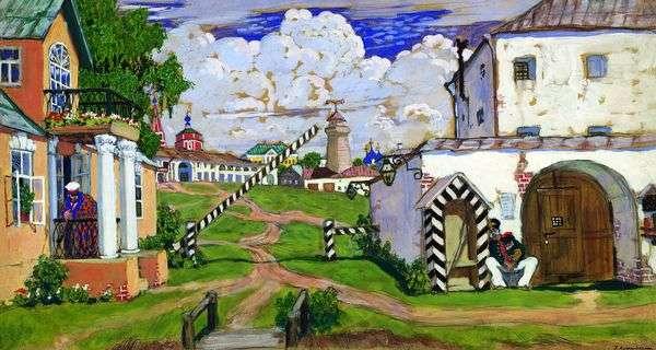 广场在城市的郊区   鲍里斯Kustodiev