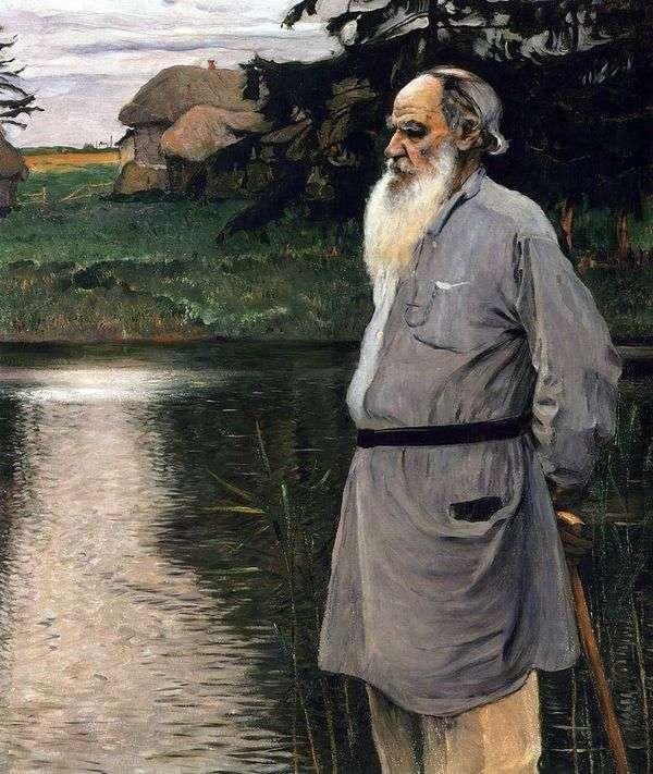 L. N. 托尔斯泰的肖像   米哈伊尔 涅斯特罗夫