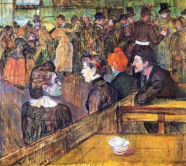 Moulin de la Galette的宴会厅   Henri de Toulouse Lautrec