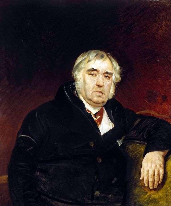 Fabulist的肖像I. A. Krylov   Karl Bryullov