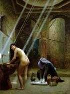 土耳其女孩和摩尔人浴   让 莱昂杰罗姆
