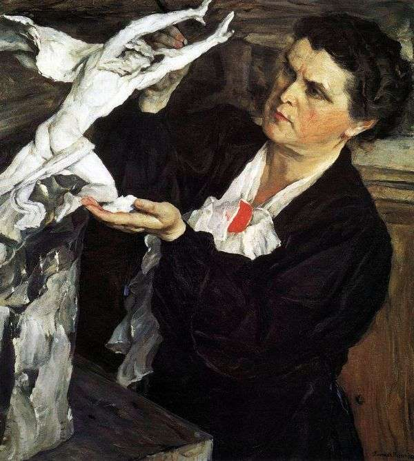 雕塑家的画像V. I. Mukhina   Mikhail Nesterov