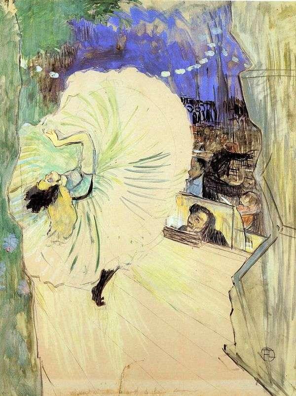 舞者(轮)   Henri de Toulouse Lautrec