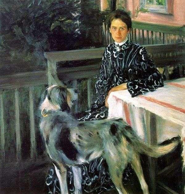 Yulia Kustodiev的妻子   Boris Kustodiev的肖像