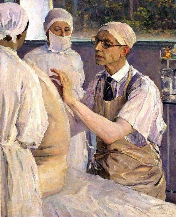 外科医生谢尔盖尤丁的肖像   米哈伊尔涅斯特罗夫