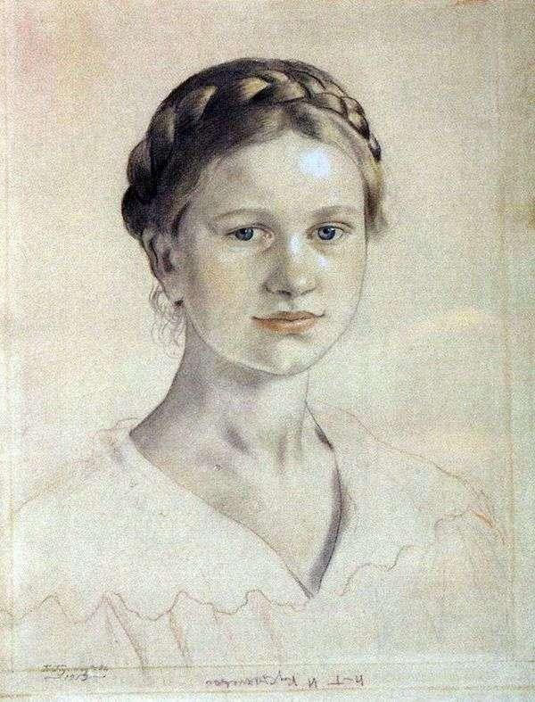 I. B. Kustodiyev   Boris Kustodiev的肖像