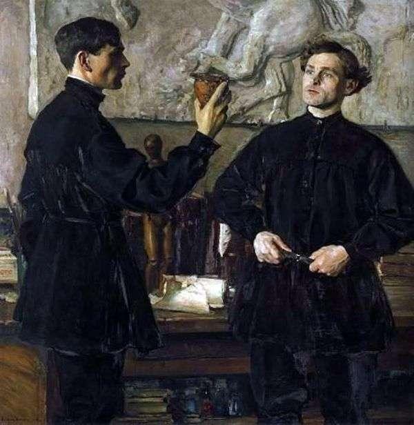 艺术家P. D. 和A. D. Korinykh   Mikhail Nesterov的肖像