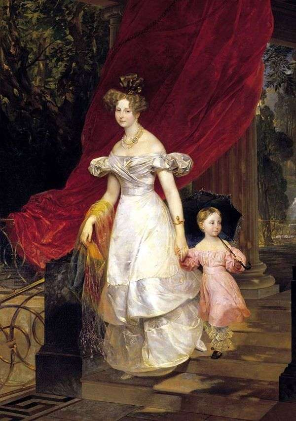 Vel的肖像。卷。Elena Pavlovna和她的女儿   Karl Bryullov