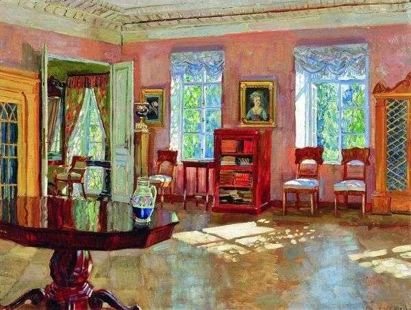 庄园的图书馆的内部   Stanislav Zhukovsky