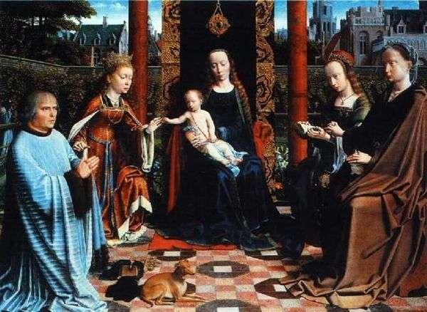 麦当娜与孩子,圣徒和捐赠者   大卫杰拉德