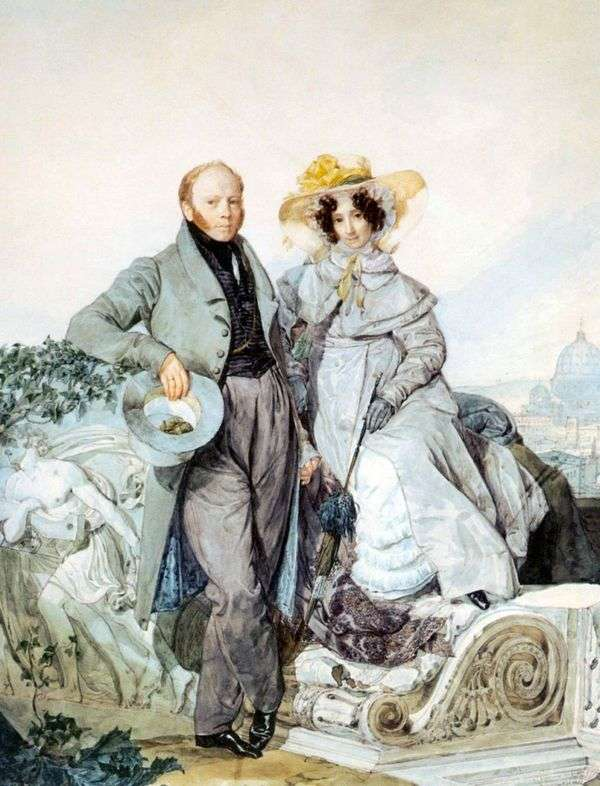 G. N和V. A. Olenin的画像   Karl Bryullov